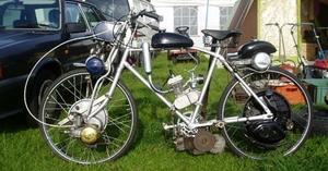 een fiets met 6 motors