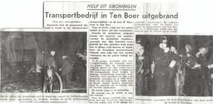 Brand bij Heersema - Ten Boer