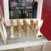 De bijzondere houten schaakprijzen. Gemaakt door Jan de Jong