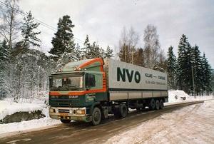 In de winter in Zweden