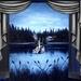 het meer bij nacht