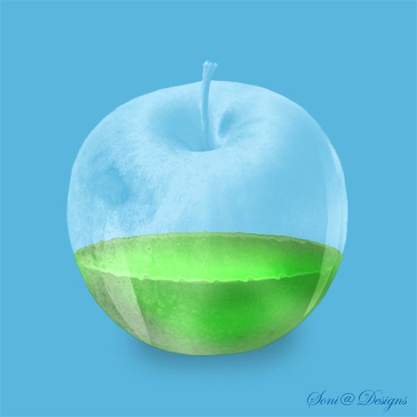 glazen appel gemaakt