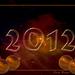 2012 met kerstballen