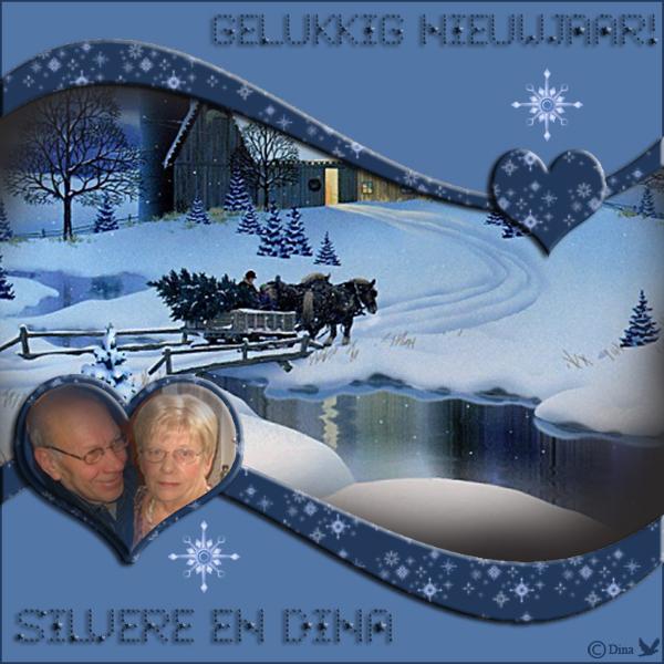 Wensen Gelukkig Nieuwjaar Silvere en Dina