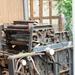 Achtergelaten printmachine