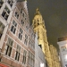 Antwerp cathedral at night