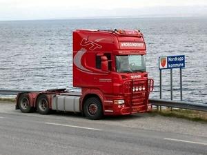 Aan de Noord Kaap in Noorwegen