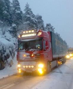 In de winter naar Noorwegen