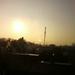 pompeers antenne kok met zon op komst