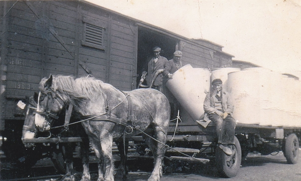 het eerste Transport