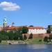 3A Krakau, Wawel-heuvel aan de Wisła, met links de kathedraal