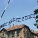 3B Auschwitz,   De spreuk Arbeit macht frei op de toegangspoort v