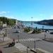 Uitzicht op de Rhône vanuit hotel in Vienne