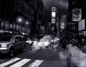 nacht foto met stoom