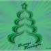 Kerstboom met pentool in photoshop gemaakt.
