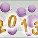 3D wenskaart cijfers en bollen (2013)