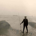 mijn broer op langs vaarwater Konijnenschor