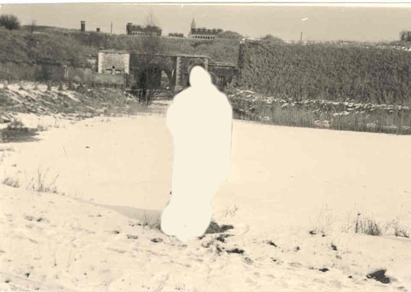 Bakkersvest in winter 1962 , voor dichtgevrozen water