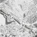 Luchtfoto Molenvest met namen Antwerpen Zuid - Kiel