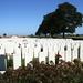 Eén van de vele begraafplaatsen uit WOI in de Westhoek.
