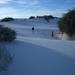 White Sands monument in de vroege morgen...
