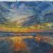 weerspiegeling in olieverf