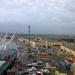 zicht op haven in  Beira