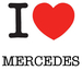 I Love Mercedes sticker