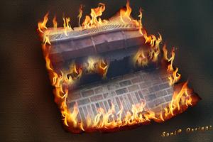 Brandende foto