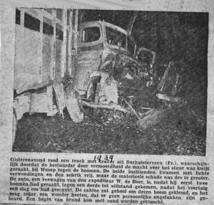 Ongeval bij Wezup in 1939
