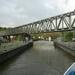 030-Openen van sluis in Anseremme bij 2.40m h water...