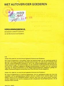 Vergunning bewijs Mandema - Sappemeer
