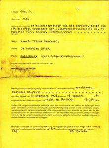 Vergunning Mandema - Sappemeer