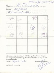 Klantenkaart 1981
