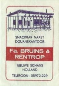 Suikerzakje Bruins - Nieuwe Schans