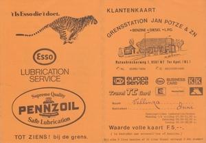 Klantenkaart  Jan Potze