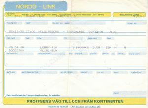 Ticket Nordo Line Malmo - Zweden
