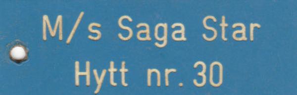 Sleutel Saga Star  van de TT line