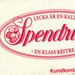 Lucifer doosje van Spendruos (biermerk in Zweden)