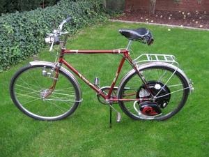Cyclemaster Engeland op een Tripad sportfiets