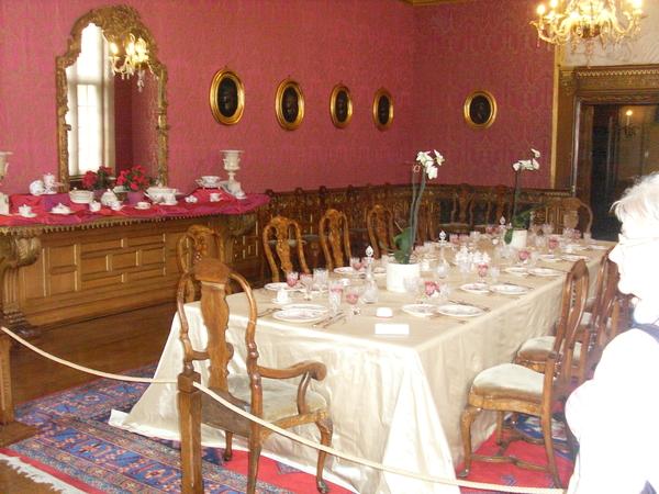 eetzaal in het kasteel