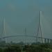 Pont de Normandie in Honfleur, langste tuibrug in Europa