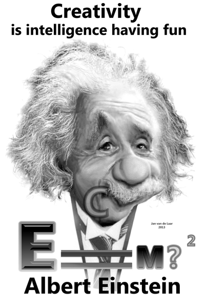 Einstein Karikatuur Spreekwoorden En Gezegden Gratis