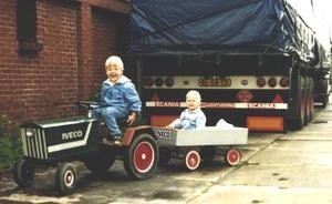Leendert en Gerard in 1985
