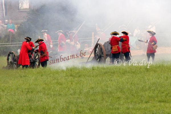 Herbeleving van de veldslag bij Oudenaarde 1708