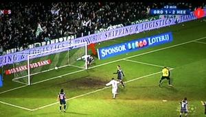 Ook op het voetbalveld reclame