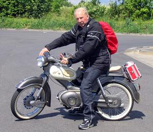 Kreidler Florett met Klaus Weller