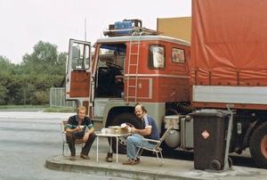 Boonstra Limburg Lahn, 14 september 1984. met berend de haan joop