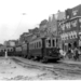 Haarlem 1949  Sloop v d rails van de stadstram op het Houtplein