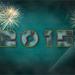 nieuwjaar kaart met vuurwerk
